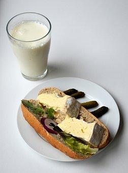 Bread, Milk, Breakfast, Sandwich, Cheese, Healthy
