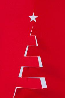 Fir Tree, Christmas Decorations, Star, Decoration, Red