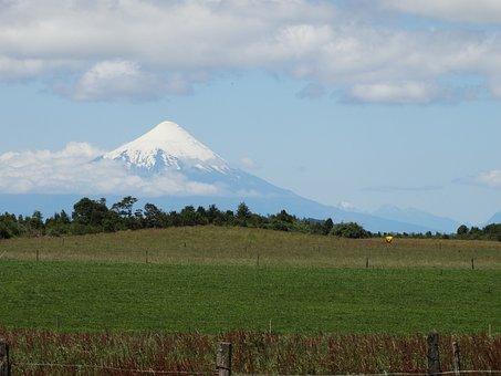 Puerto Varas, Volcano, Osorno, Clouds, Osorno Volcano