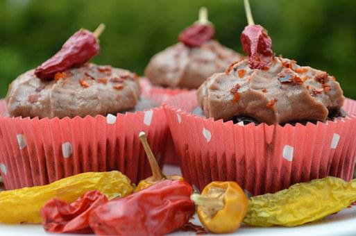 Chocolate, Chili, Cupcakes, Muffins, Delicious