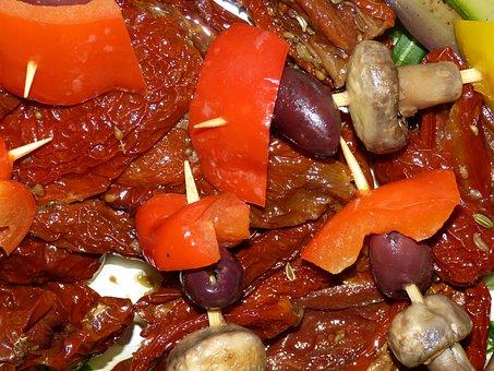 Sun Dried Tomatoes, Antipasti, Restaurant, Eat, Meal