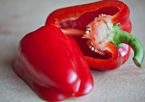 Paprika, Fruit, Vitamins, Eating, The Richness Of