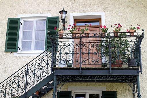 Balcony, Emergence, Railing, Wrought Iron, Ornament