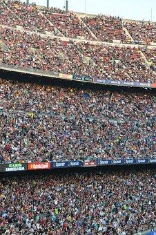 Camp Nou, Fair, Audience, Football, Match, People, Fans
