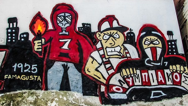 Cyprus, Paralimni, Graffiti, Fans, Hooligans, Football