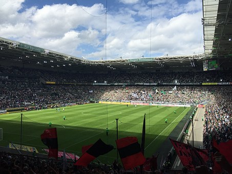 Football, Stadium, Fans, Viewers, Mönchengladbach