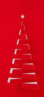 Christmas Decorations, Fir Tree, Star, Decoration, Red
