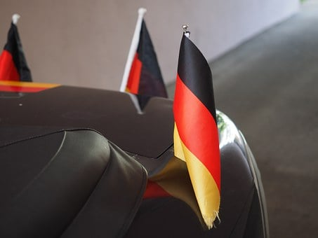 Flags And Pennants, Germany Colors, Flag, Black, Red