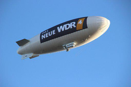 Airship, Sky, Zeppelin, Colorful, Float, Flying