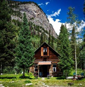 Colorado, Log Cabin, House, Home, Cottage, Quaint