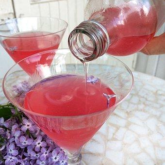 Lemonade, Lilac, Flowers In Foods, Juice, Summer, Drink