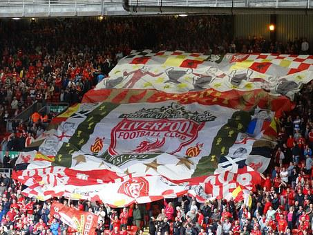 Anfield, Football, Fans, Liverpool, Huge, Flag