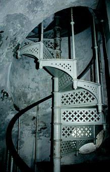 Spiral Staircase, Stairs, Lyngvik Lighthouse