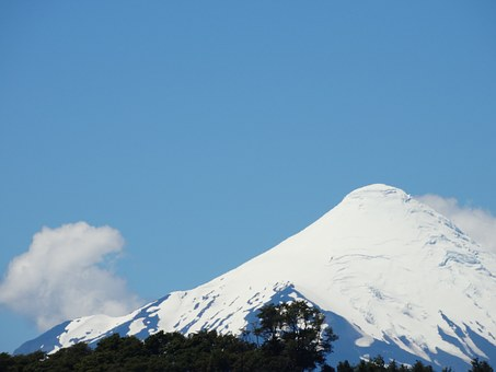 Volcano, Chile, Osorno, Mountains, Sky, Millennium