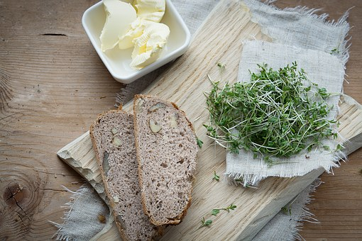 Cress, Green, Herbs, Natural Product, Bread
