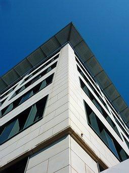 Architecture, Bank Skyscraper, Office Building