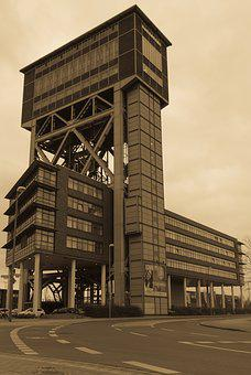 Headframe, Monument, Industry, Old, Building, Factory