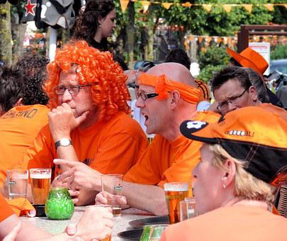 Football, Soccer Fans, Football Craze, Orange