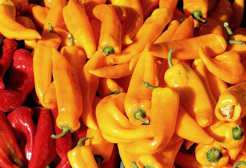 Paprika, Vegetables, Yellow, Food, Sweet Peppers