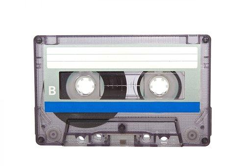 Cassette Tape, Plastic, Tape, Audio, Recording, Isolate