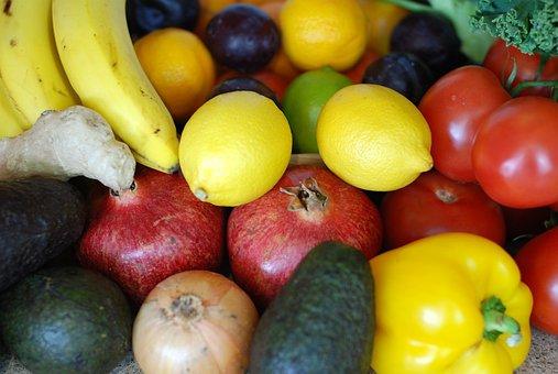 Fruits, Fresh, Raw, Vegetables, Colorful, Seasonal