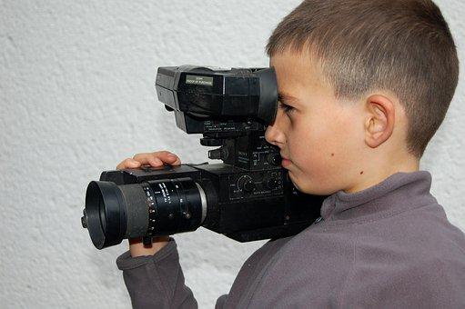Camera, Filming, Video Camera, Vintage, Retro, Video