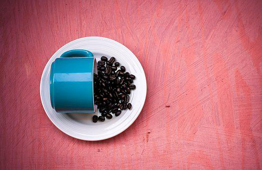Coffee, Beans, Blue, Red, Caffeine, Roasted, Espresso
