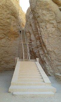 Stairs, Aegytisch, Burial Chambers, Rock, Nature