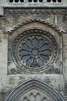 Window, Rosette, Dom, Church, Romanesque