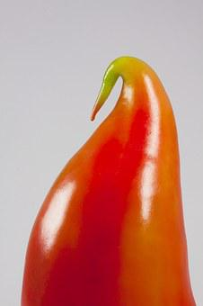 Paprika, Paprika Bird, Bill, Sculpture, Pointed Pepper
