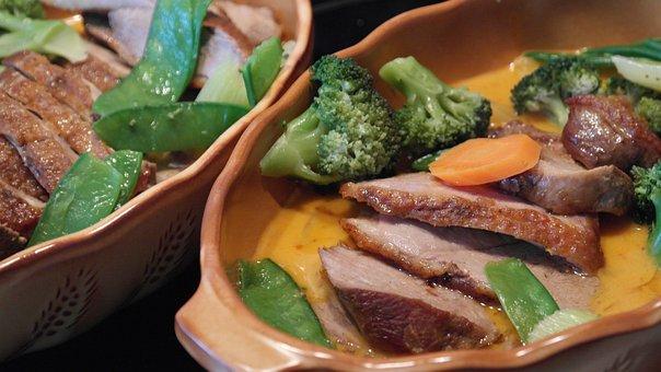 Duck, Duck Breast, Thai, Thai Curry, Red, Sharp, Fried