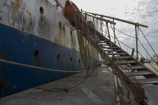 Boat, Stairs, Port, Vigo, Galicia, Handrails, Metallic