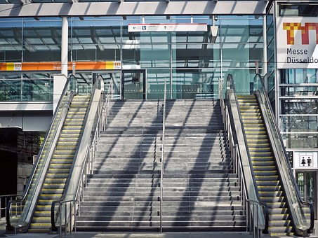 Stairs, Escalator, Gradually, Means Of Rail Transport