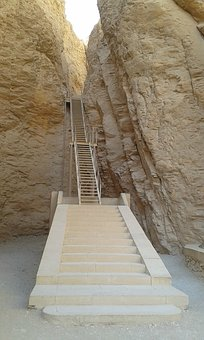 Stairs, Aegytisch, Burial Chambers, Rock, Nature