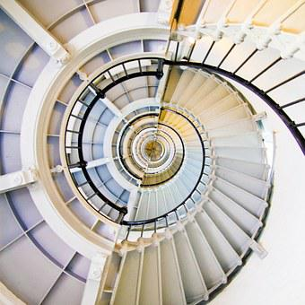 Stairs, Stairwell, Descend, Ascend, Illusion, Climb