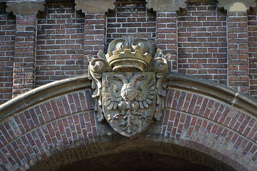 Coat Of Arms, Old, Holland, Brick, Stone, Portal