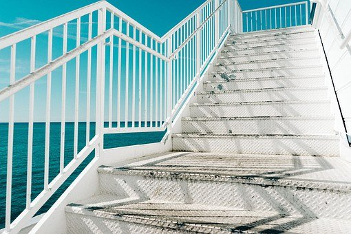 Stairs, Metal, Up, Construction, Staircase, Structure