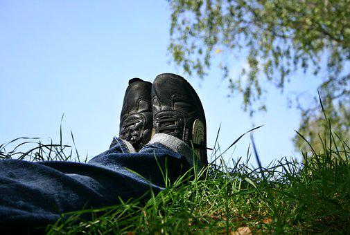 Shoes, Feet, Rest, Break, Summer, Relaxation, Time Out