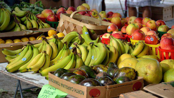 Fruit, Vegetables, Market, Outdoor Market