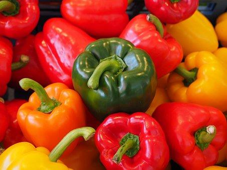 Sweet Peppers, Paprika, Gün, Orange, Red, Yellow