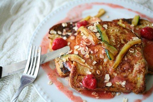 Food, Crunchy Bread, Zucchini, Strawberry, Recipe