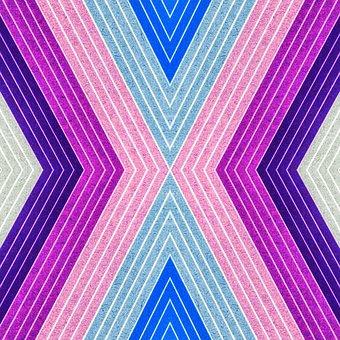 Geometric, Texture, Fiber, Layers, Aqua, Blue, Pink