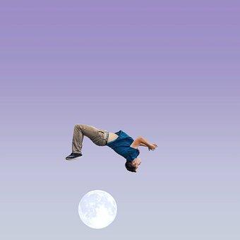 Flip, Jump, Gymnastics, Acrobatic, Young, Strong