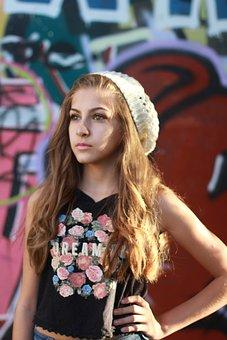 Young, Teenager, Skateboard, Model, Fun, Joke, Childish