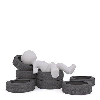 Winter Tires, White Male, 3d Model, Isolated, 3d, Model
