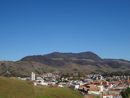 Itajubá, Brazil, Mountain, City, Landscape, Horizon