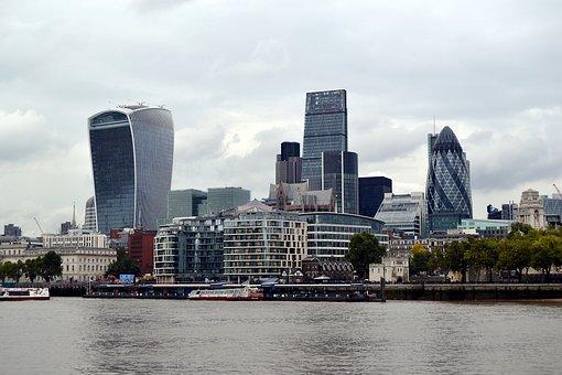 London, England, Panorama, Water, Architecture