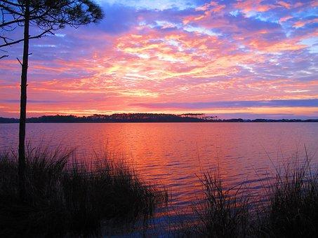 Grayton State Park, Florida, Seaside, Beach, Sunset