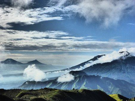 Indonesia, Mountain, Natural, Landscape, Travel, Asia