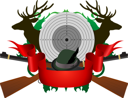 Hunting, Target, Red Deer, Rifle, Hat, Feather, Hunter